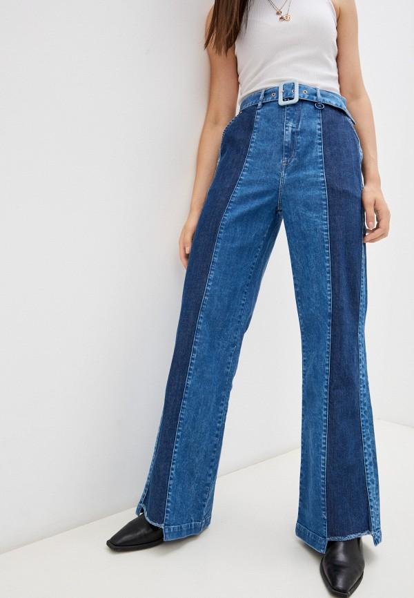женские джинсы клеш salsa, синие