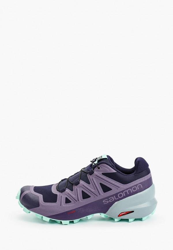 женские низкие кроссовки salomon, фиолетовые