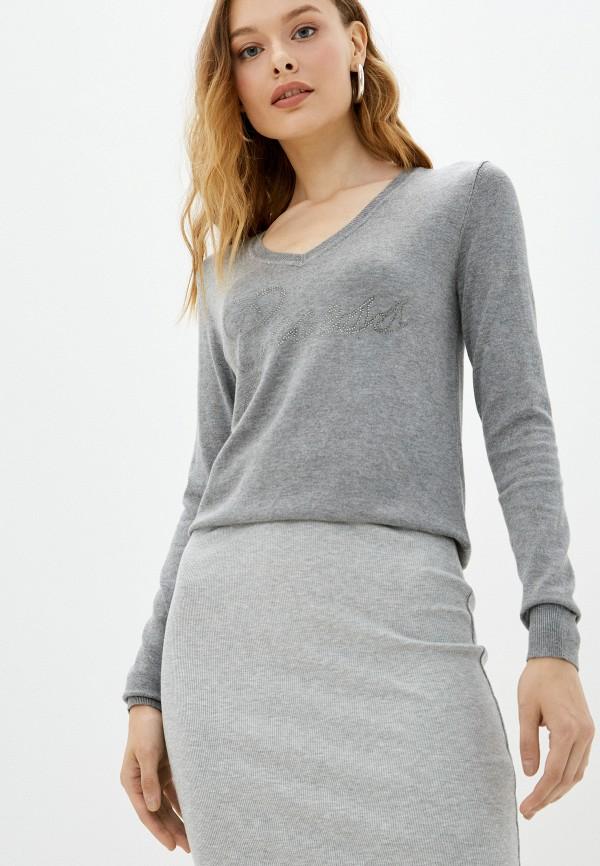 женский пуловер guess, серый