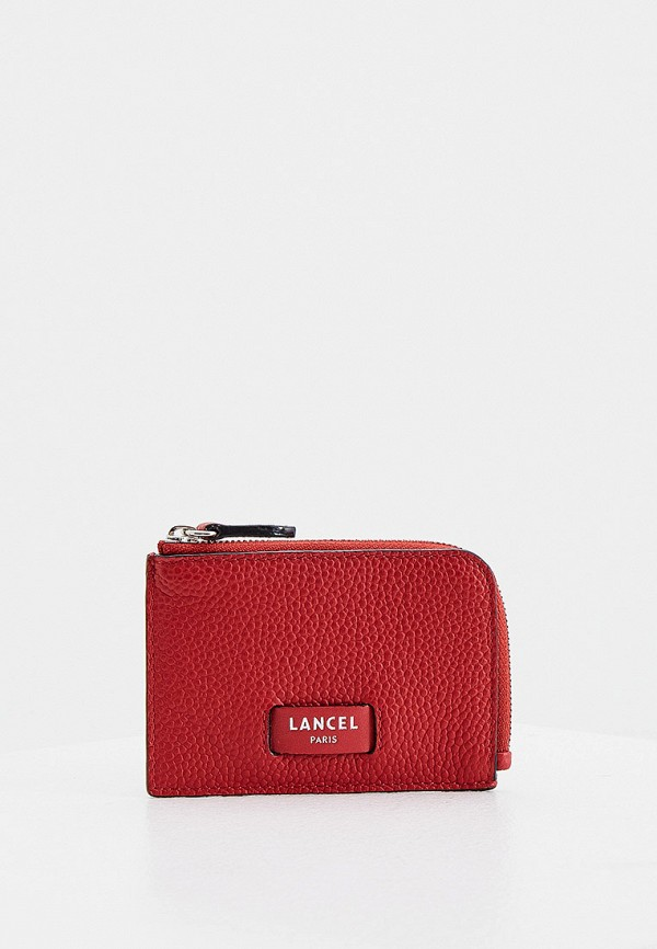 женский кошелёк lancel, красный