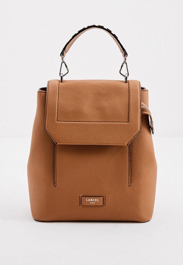 женский рюкзак lancel, коричневый