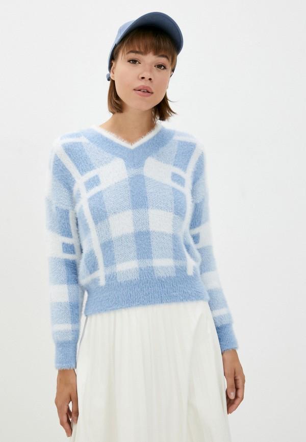 женский пуловер rinascimento, голубой