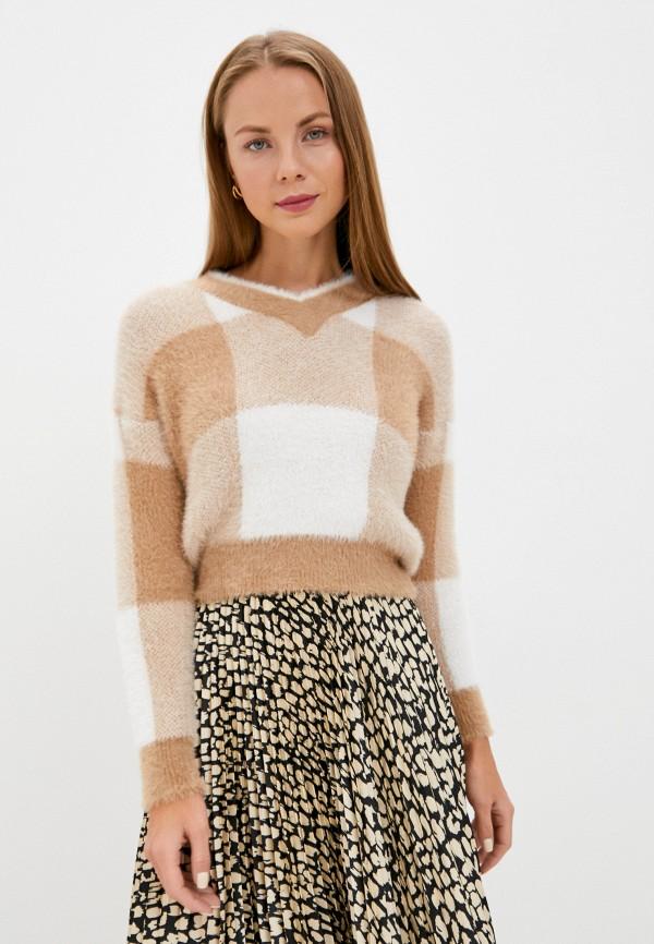 женский пуловер rinascimento, бежевый