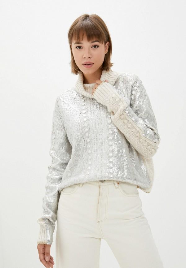 женский свитер rinascimento, серебряный