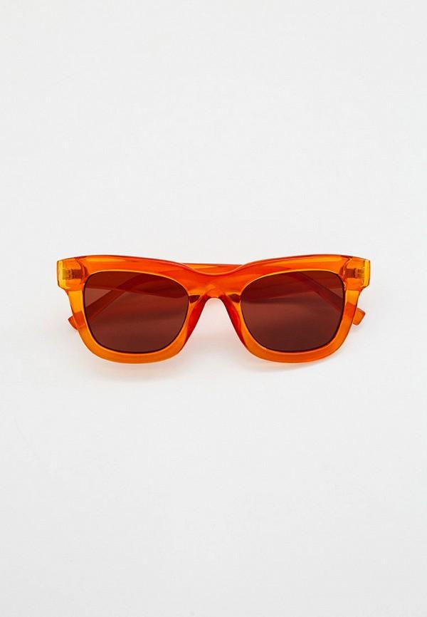 женские квадратные солнцезащитные очки marks & spencer, оранжевые