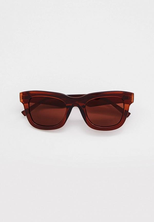 женские квадратные солнцезащитные очки marks & spencer, коричневые