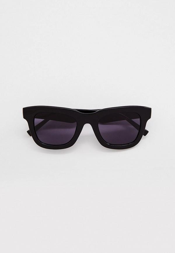 женские квадратные солнцезащитные очки marks & spencer, черные