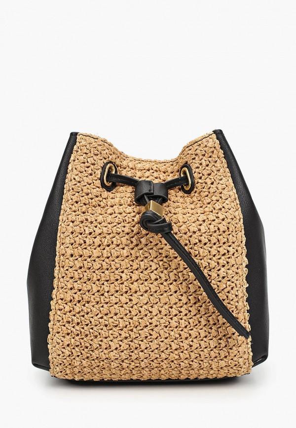 женская сумка через плечо marks & spencer, бежевая