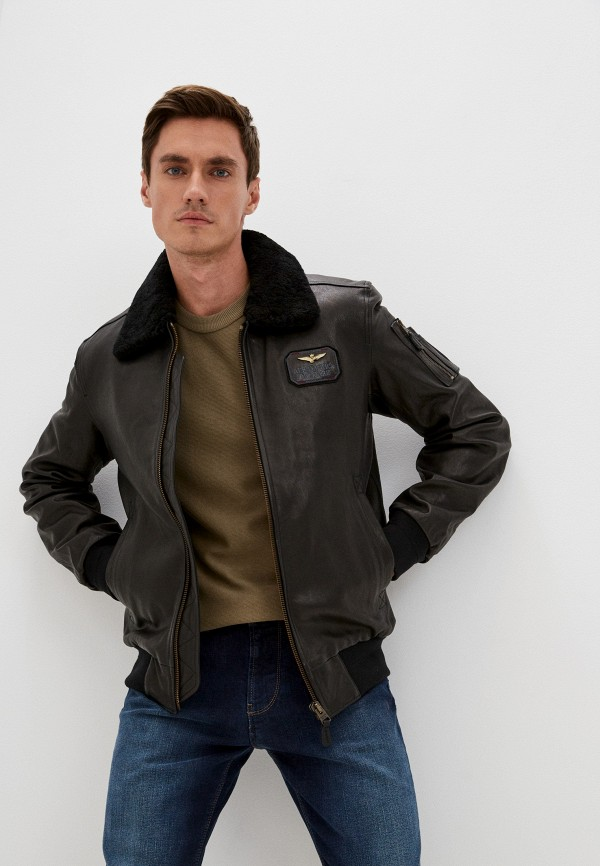 Куртка кожаная Aeronautica Militare 212PN8981807 фото