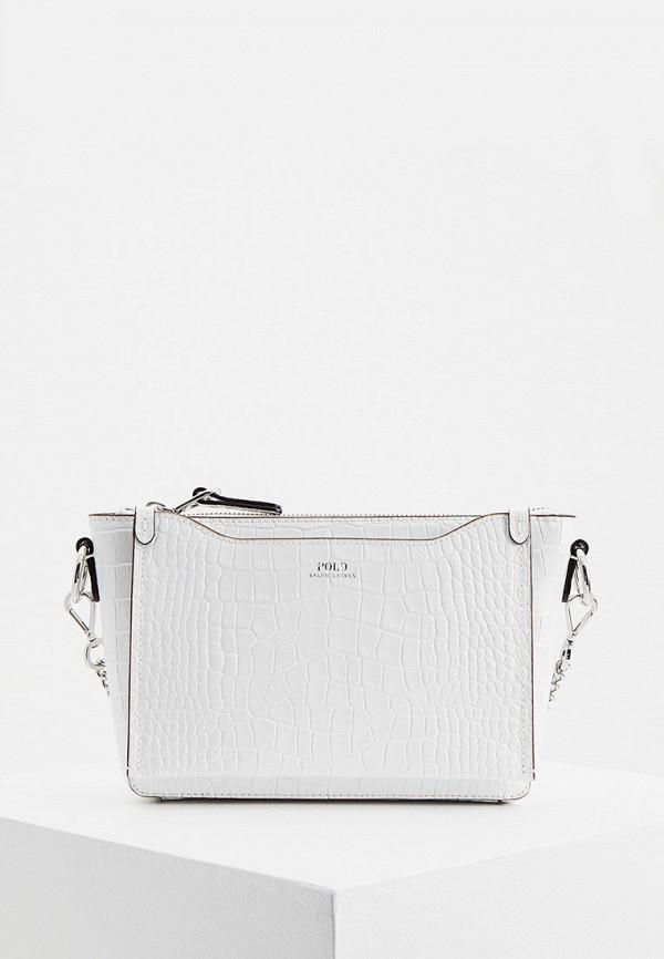 женская сумка через плечо polo ralph lauren, белая