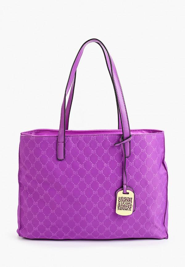 женская сумка-шоперы max & enjoy, фиолетовая
