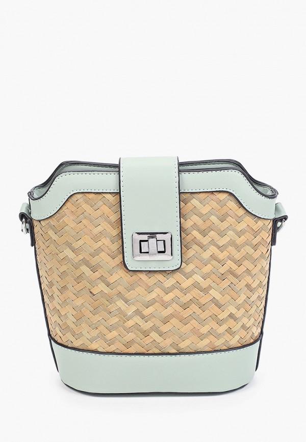 женская сумка через плечо max & enjoy, бирюзовая