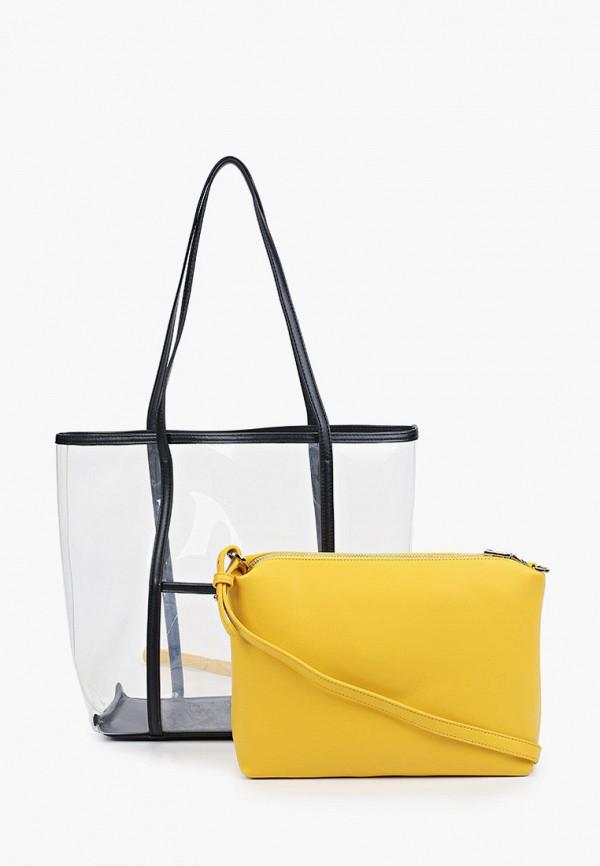 женская сумка-шоперы max & enjoy, желтая