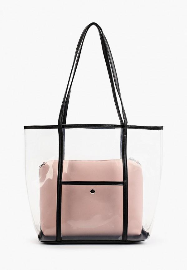 женская сумка-шоперы max & enjoy, розовая