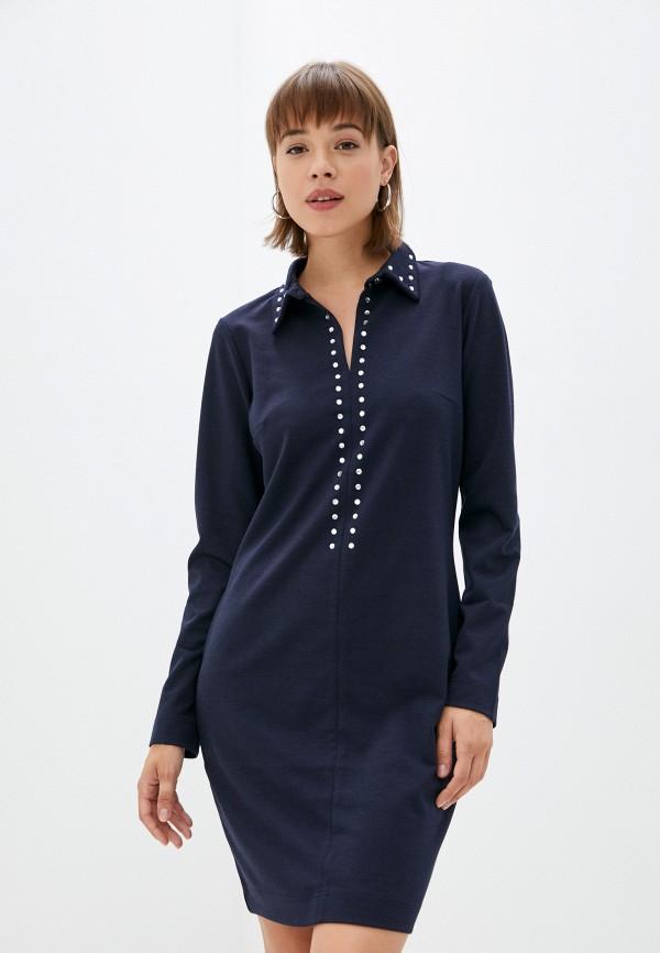 женское платье-рубашки s.oliver, синее