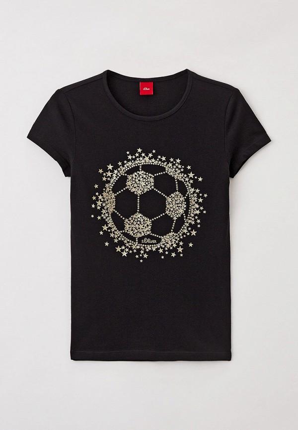 Футболка s.Oliver черного цвета
