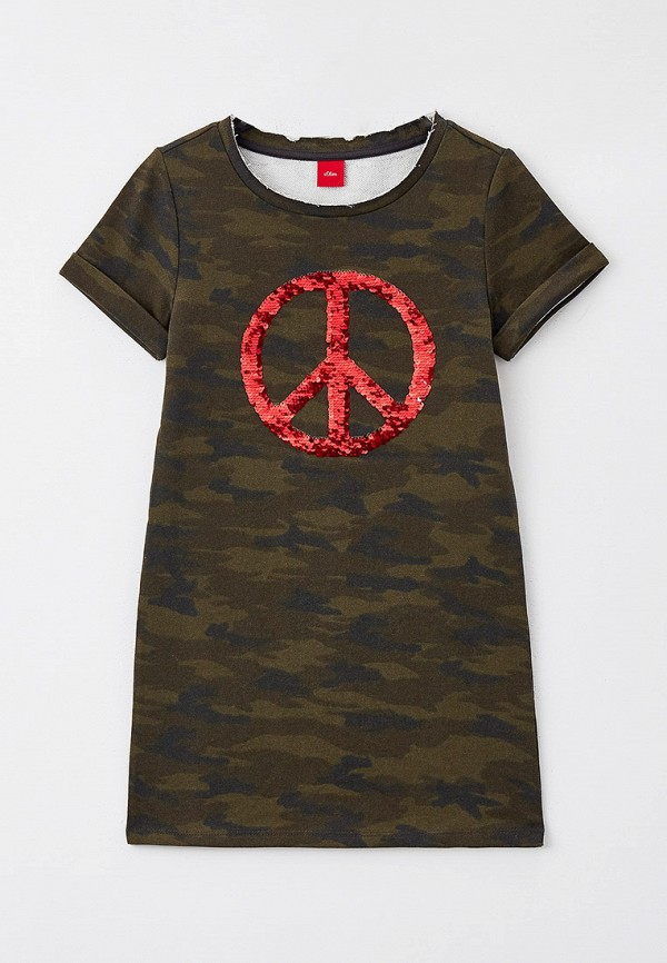 повседневные платье s.oliver для девочки, хаки