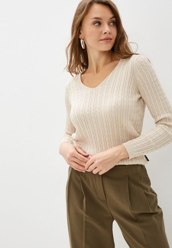 женский пуловер denim culture, бежевый