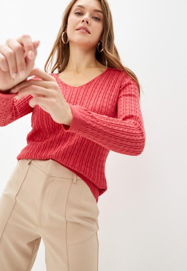 женский пуловер denim culture, розовый