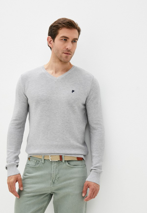 мужской пуловер denim culture, серый