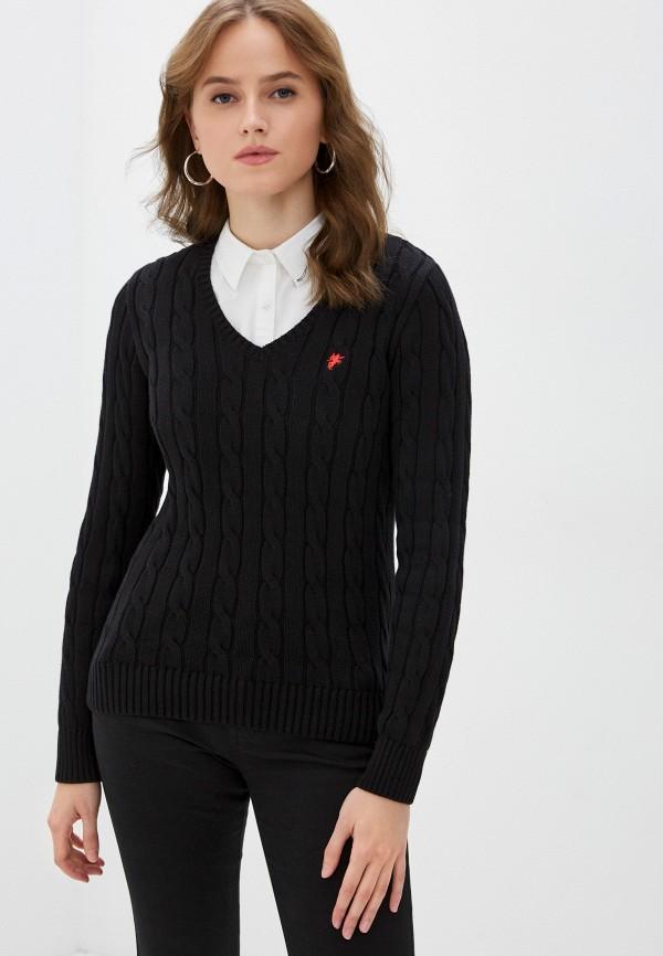 женский пуловер denim culture, черный
