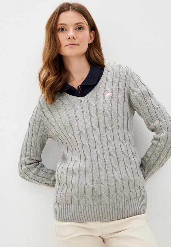 женский пуловер denim culture, серый
