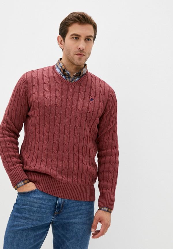 мужской пуловер denim culture, бордовый