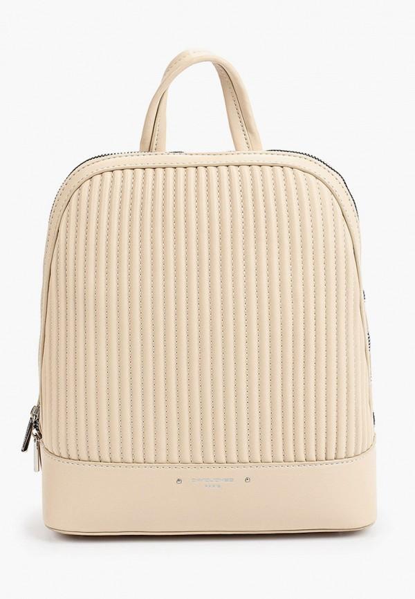 женский рюкзак david jones, бежевый