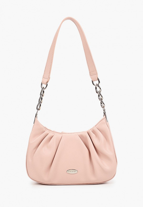 женская сумка с ручками david jones, розовая