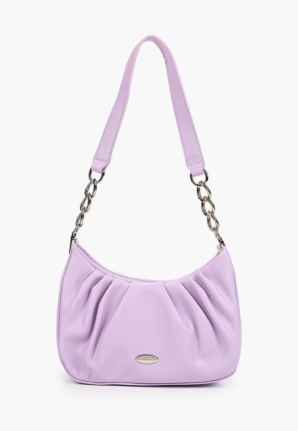 женская сумка с ручками david jones, фиолетовая