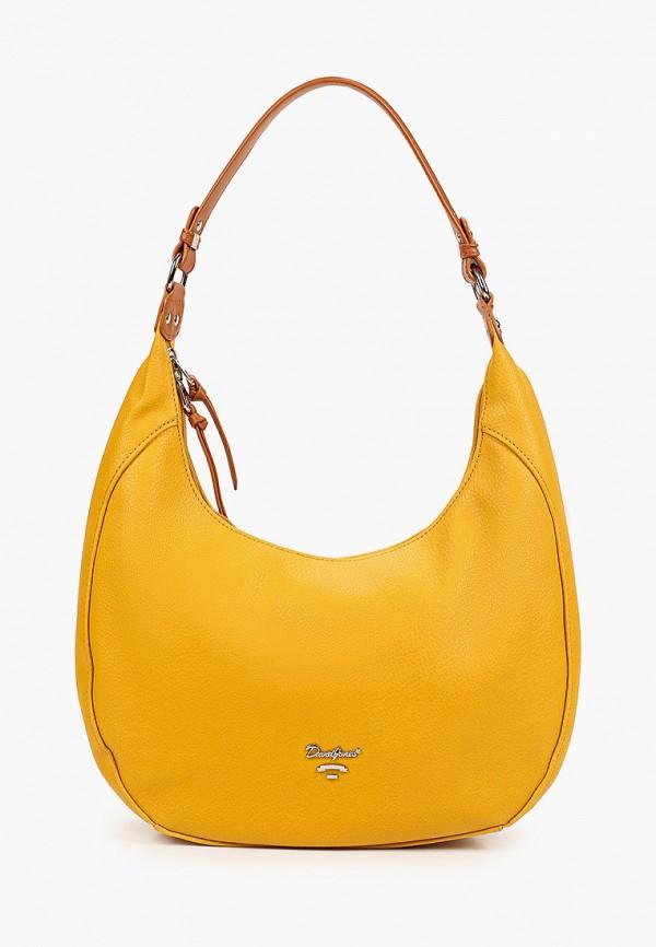 женская сумка с ручками david jones, желтая