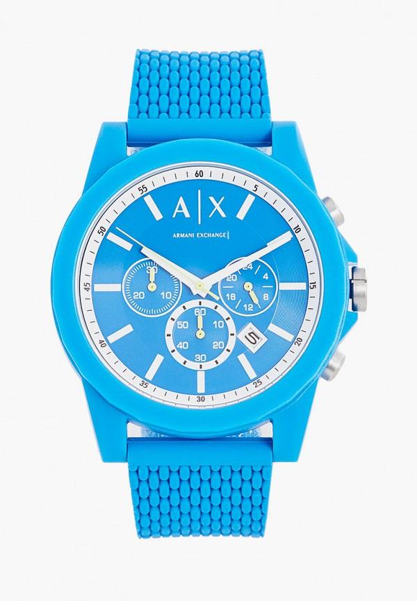 мужские часы armani exchange, голубые