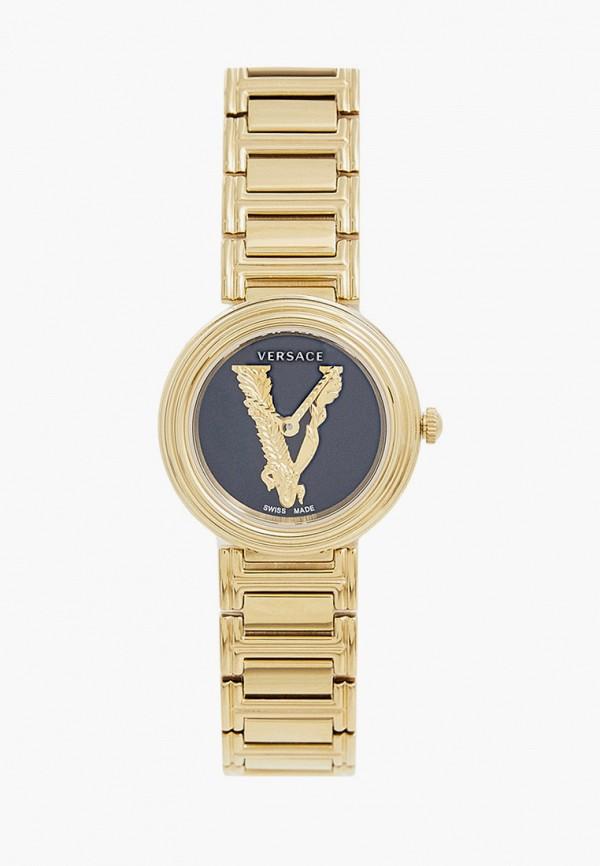 женские часы versace, золотые