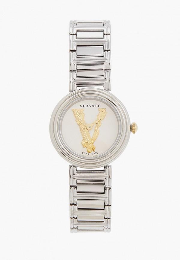 женские часы versace, серебряные