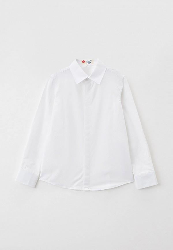 рубашка button blue для мальчика, белая