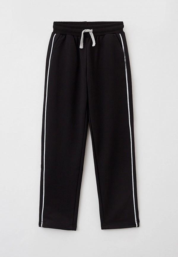 спортивные брюки button blue для девочки, черные