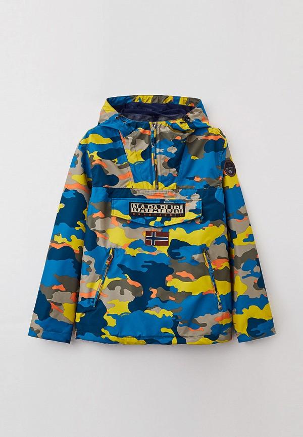мужская куртка анораки napapijri, разноцветная