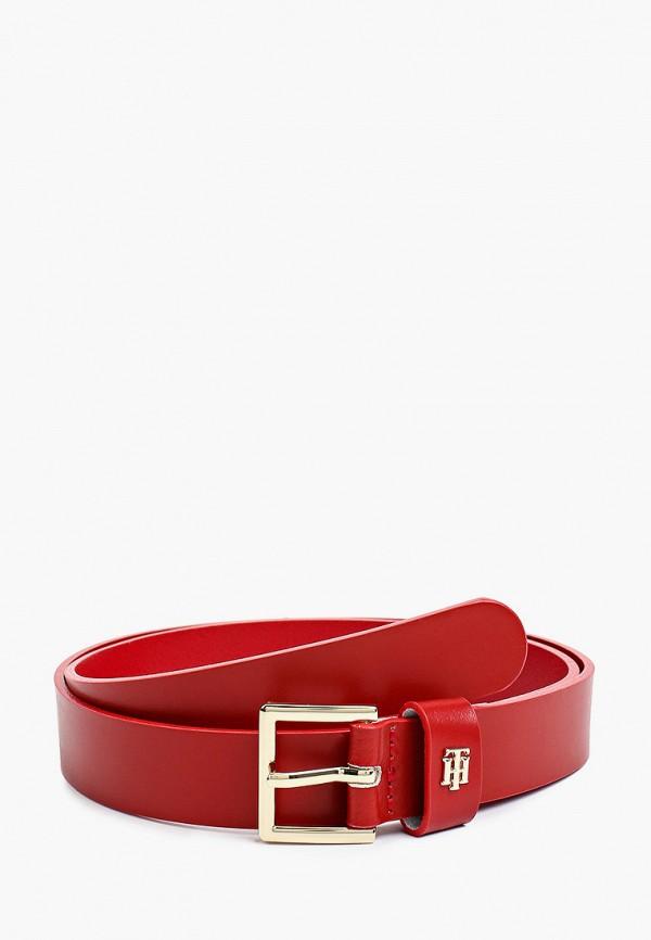 Ремень Tommy Hilfiger красного цвета