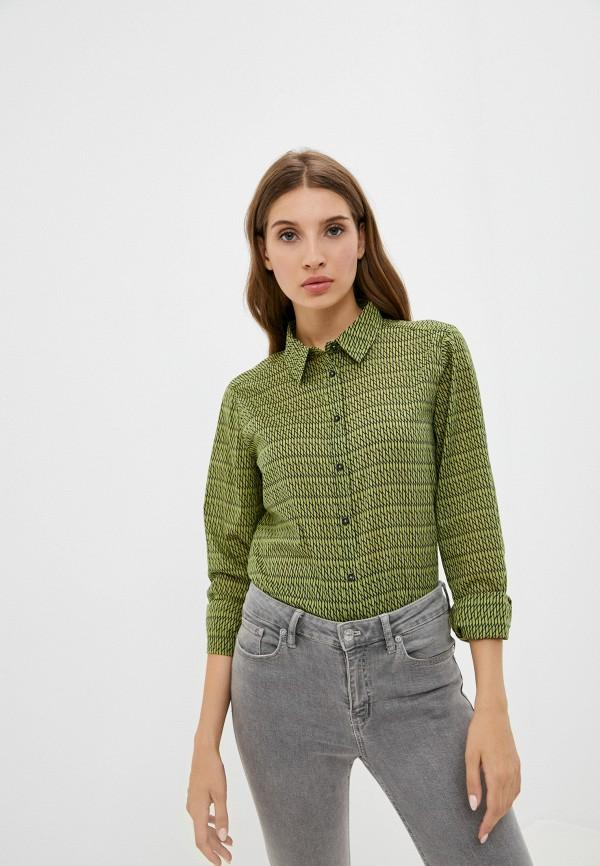 женская рубашка с длинным рукавом united colors of benetton, зеленая
