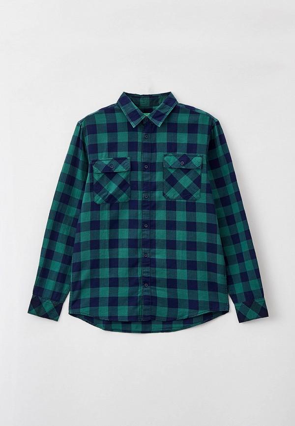 рубашка united colors of benetton для мальчика, разноцветная
