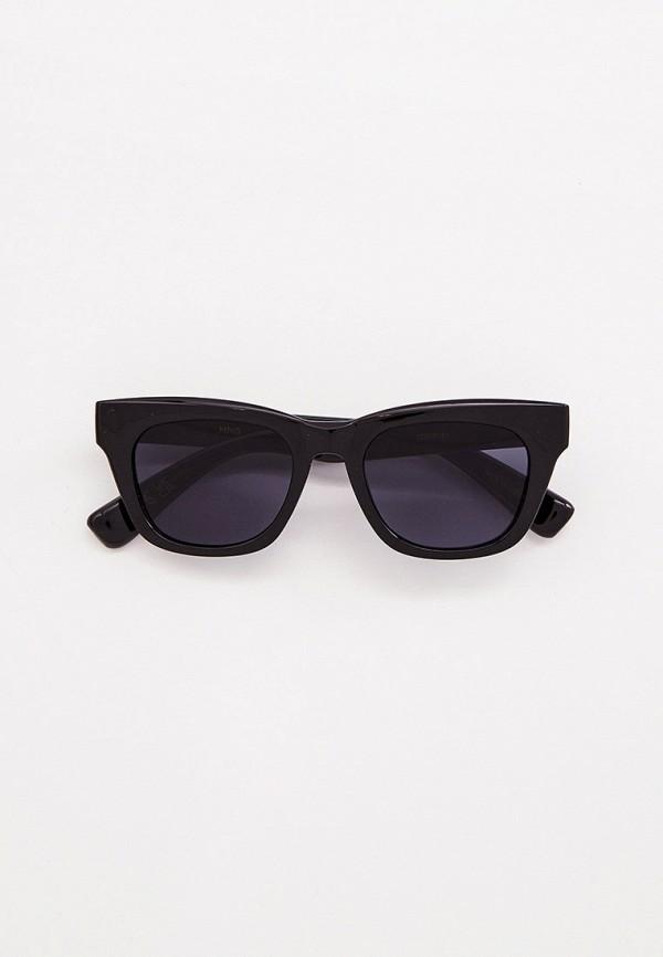 женские квадратные солнцезащитные очки mango, черные