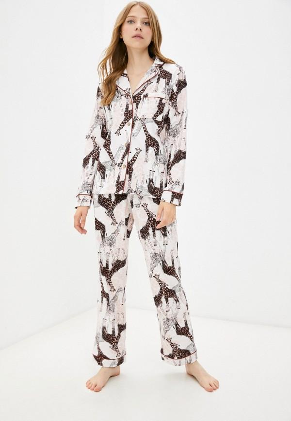 женская пижама rene santi, бежевая