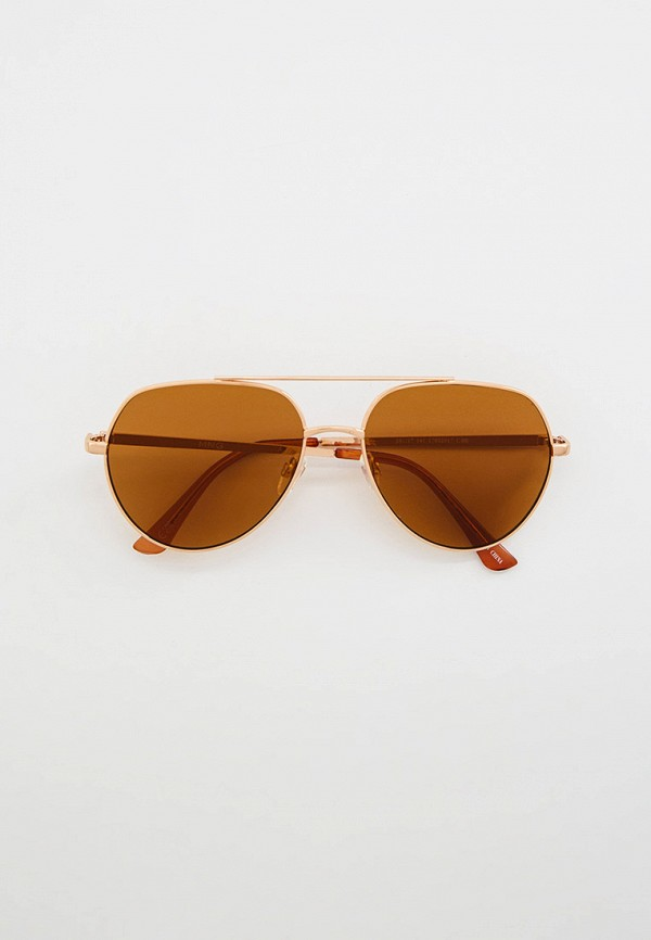 женские авиаторы солнцезащитные очки mango, золотые