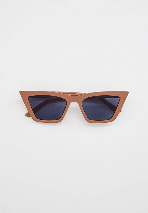женские солнцезащитные очки кошачьи глаза mango, коричневые