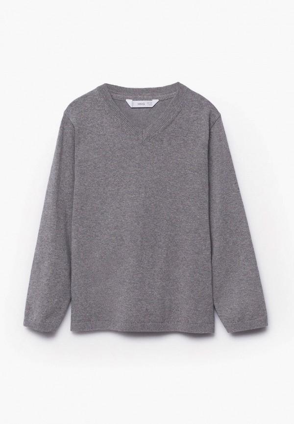 пуловер mango kids для мальчика, серый