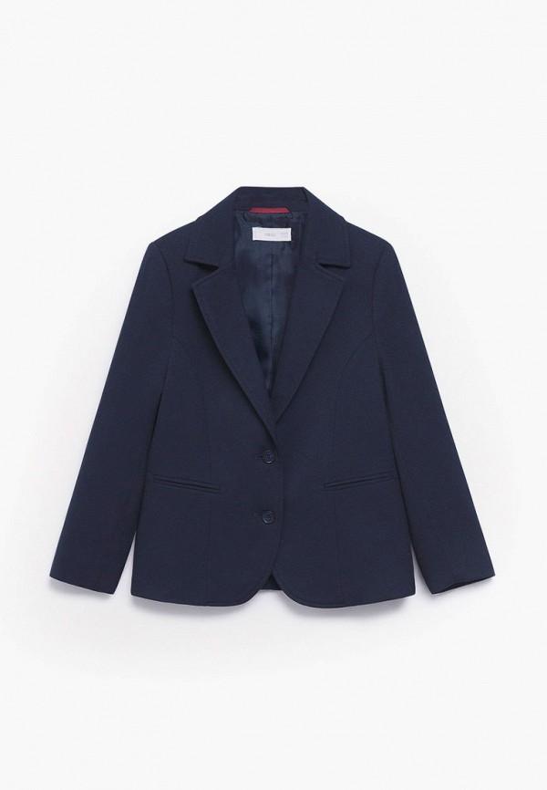 пиджак mango kids для девочки, синий