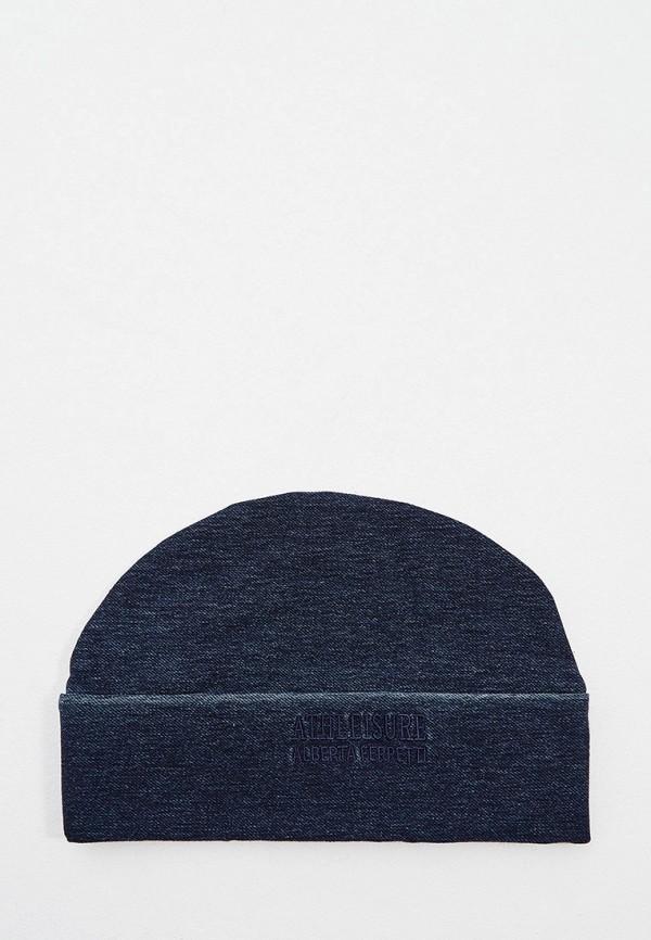 женская шапка alberta ferretti, синяя