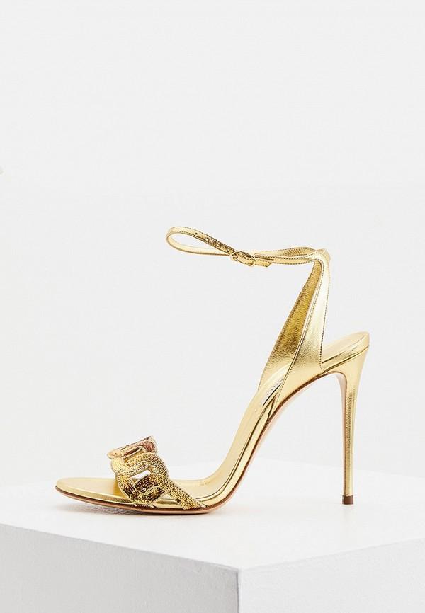 женские босоножки casadei, золотые