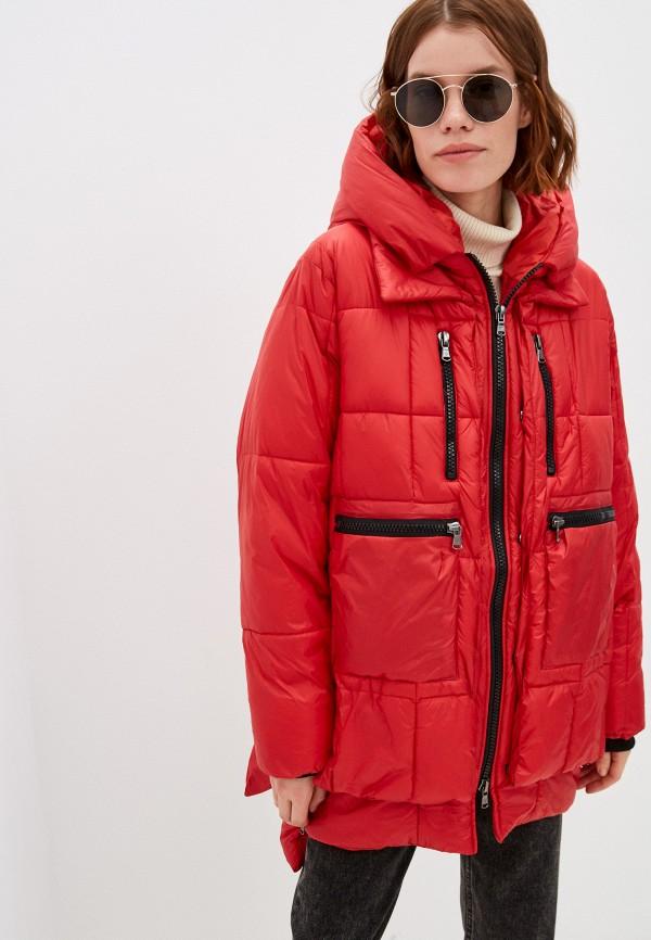 женская утепленные куртка canadian, красная