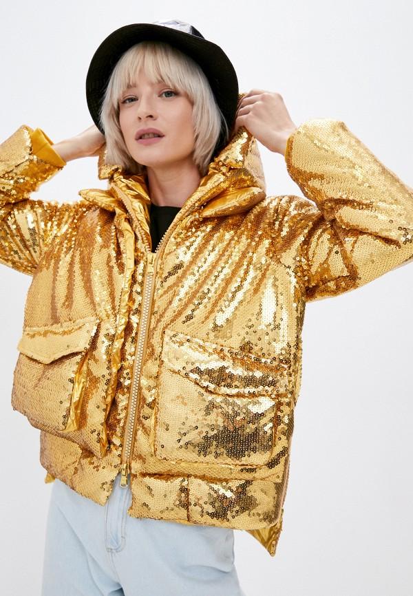 женская утепленные куртка canadian, золотая